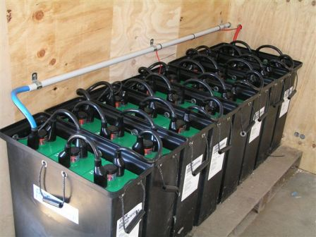 Stand alone systems use battery storage to store electrical energy