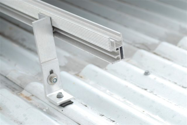 special mounting frames are used to install solar systems on flat roofs