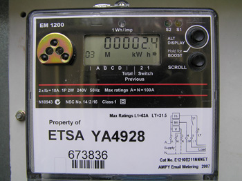 solar electric power meter